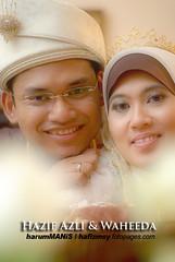 Hazif Azli & Waheeda (Hafizudin) Tags: wedding smile happy nikon couple hijab malaysia brides justmarried malay perlis
