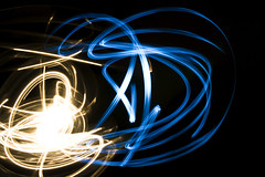 Light Painting 14 (James_Chung) Tags: longexposure light canada lightpainting dark flashlight whitewall jameschung 5secondsexposure