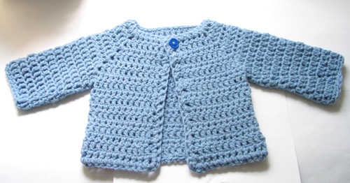 Crochet Newborn Baby Sweater Free Pattern : Ravelry: Crocheted Baby Sweater pattern by Beth Koskie