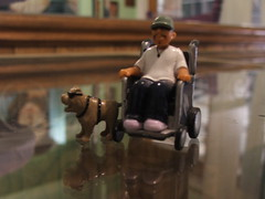 seeing eye dog homie and wheelchair homie