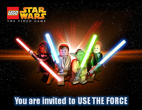 Card: Lego Star Wars 3 Birthday Invitations star wars invitation