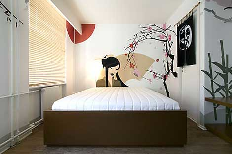 modern minimalist bedroom interior