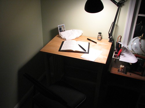 "My ""Seven Swords"" Novel Writing Nook"