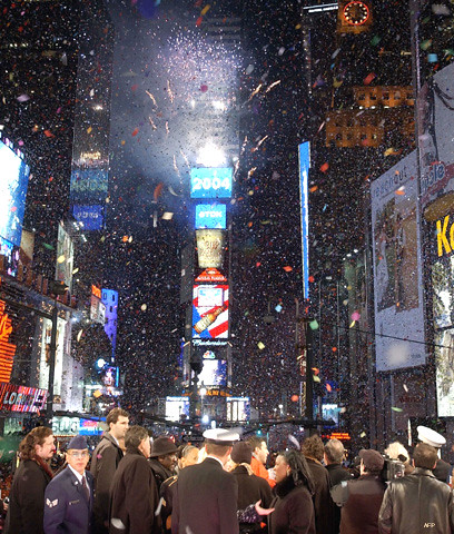 Fin de año en Times Square