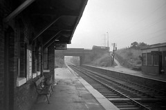 High Lane Station Cheshire August 1969 (loose_grip_99) Tags: railroad 1969 station train geotagged manchester blackwhite cool cheshire noiretblanc railway nonluoghi lms oillamp nsr greatcentral nonplace gcr nonlieux northstaffordshire highlane geo:lat=53367404 geo:lon=2085085 macclesfieldbollingtonmarple msjr
