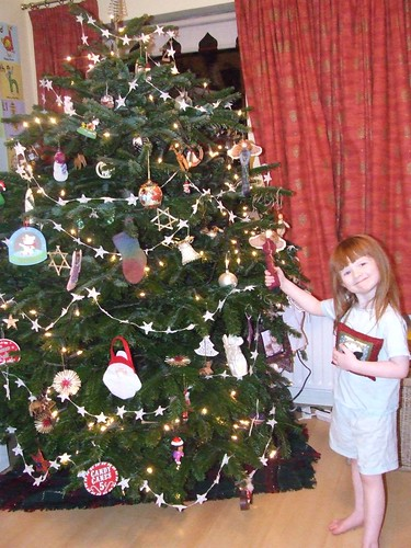 Aine and our tree!
