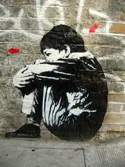 Boy (Herschell Hershey) Tags: street brick london pasteup art wall graffiti interestingness wheatpaste cargo explore rivingtonstreet jefaerosol onephotoweeklycontest