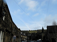 sky church lines clouds rainbow forsale yorkshire satellitedish pateleybridge