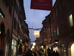 Merci Baccarat (NaomiQYTL) Tags: lighting christmas decorations france building architecture lights noel strasbourg chandelier alsace baccarat lumieres christmasilluminations ruedesjuifs ruedudome