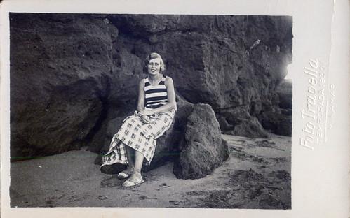 By the sea - One girl beach dress