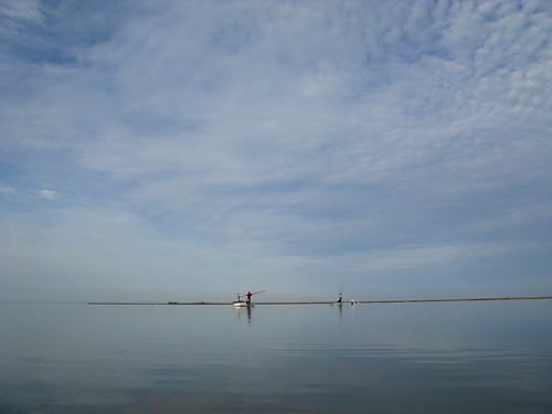 Oystering near Alabama Port, Alabama, USA