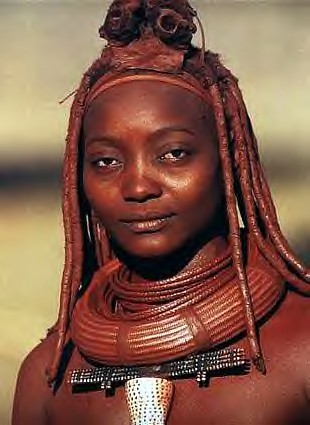 Himba woman in her traditional dress. The pastoral people feel their way of life will be threatened with the building of a dam on the Cunene River in northern Namibia. by Pan-African News Wire File Photos
