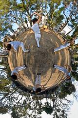 Chisato's world (heiwa4126) Tags: park panorama japan geotagged tokyo dance 360 panoramic multiplicity ogikubo stereographic ptgui d80 nodalninja heiwa4126 akvisenhancer geo:lat=357085128 geo:lon=1396214358