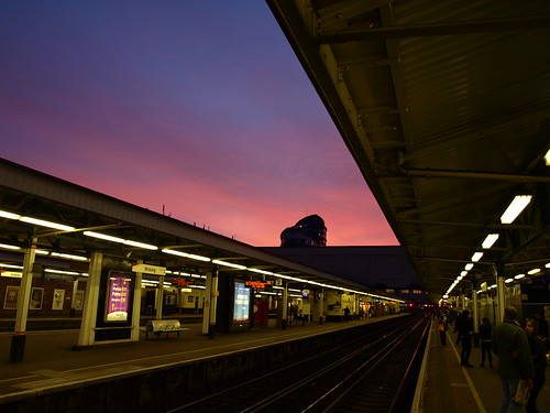 Sundown at Woking Station