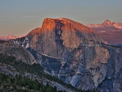 Sunset on Halfdome (The Man in Red) Tags: halfdome hdr