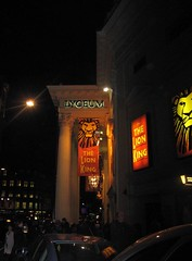 Week 09 (pic d) The Lion King! (Jo and Paul's pics) Tags: pictures people orange signs black london cars yellow buildings lights theatre lion busy pillars thelionking lyceum photoaweek hpad hpaw