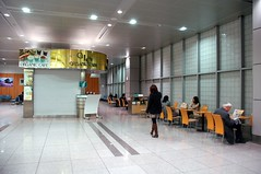 Waiting area at Shinagawa Station