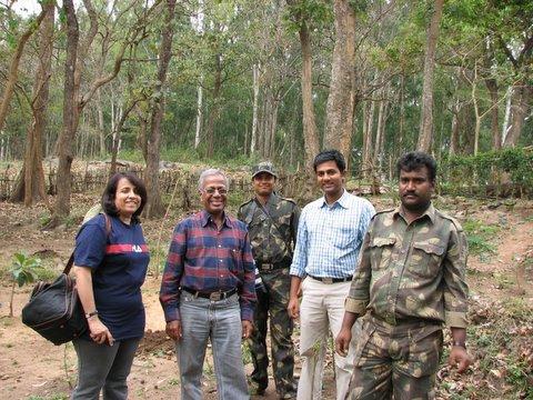 JLR K Gudi Camp 170308 sapling planting