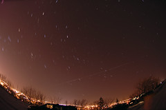 ISS with star trails (Computer Science Geek) Tags: ontario astrophotography peterborough iss startrails armourhill utata:project=nocturnal2