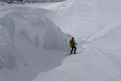 Guide Sebastien skis between the seracs (Chamonix Experience) Tags: skiing offpiste valleeblanche valleenoire