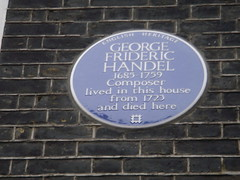 Photo of George Frideric Handel blue plaque