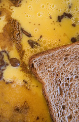 Cooking french toast  by Jackie Alpers food photographer (Jackie Alpers) Tags: food brown color cooking wet yellow closeup breakfast french bread healthy pattern graphic cinnamon patterns toast meals egg shapes floating bubbles powder holes frenchtoast spices liquid preparing soaking foodandbeverage batter healthyeating processes