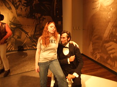 Abe Lincoln looking at my boobs.