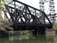 Amtrak Railroad Bridge over Bronx River, Bronx, New York City (jag9889) Tags: city nyc railroad bridge ny newyork lines puente crossing power bronx north corridor bridges rail railway ponte amtrak kayaking pont brücke 2008 waterway truss bronxriver y2008 k162 jag9889
