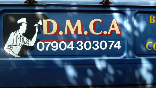 DMCA painter's van, London,