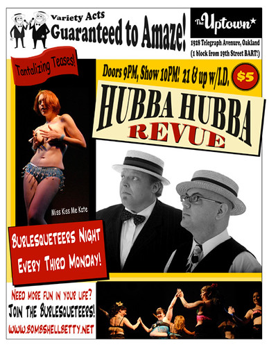 Burlesqueteers Monday at Hubba Hubba!