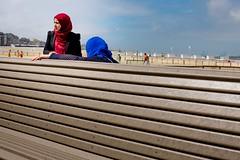 A 'Men Only' Beach (_Joris Dewe_) Tags: knokke jorisdewe beach women colors streetphotography fujifilm x100t knokkeheist