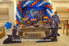 Vingadores (Decorações JB) Tags: decoração vingadores festa aniversário enfeites mesa decorada balões provençal hulk capitão america homem de ferro thor