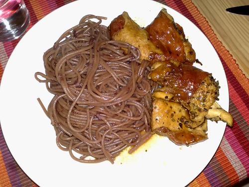 Spaghetti in vino rosso