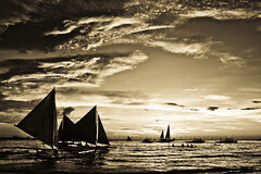 grander than sea and sky... (nicholei.) Tags: sunset sea sky sun nature beauty clouds boats sails quotes soul victorhugo platinumheartaward luxtop100