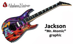 Jackson Guitar Mr. Atomic graphic airbrushed with Robby the Robot from the film, The Forbidden Planet Flying Saucers Planets Girls (eric_ernest) Tags: musician music art classic beautiful rock metal robot cool pointy graphic guitar sale oneofakind band guitars columbia jackson musical 80s instrument planet spaceship flyingsaucer custom rare guitarist spandex rockin rockandroll robbietherobot airbrush guitarplayer pickups madeinusa vibe humbucker seymourduncan guitarcollection floydrose airbrushed guitarcenter dimarzio madeintheus mratomic robbytherobot madeintheusa guitarshow garphic guitarshows guitarcollections rareguitar jacksonsoloist rareguitars jacksoncharvelforum guitarcollecting abalonevintage