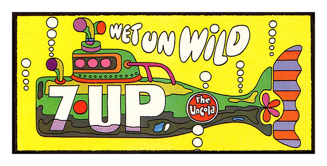 7Up_Yellow Submarine_vintage UnCola billboard poster by Ed George