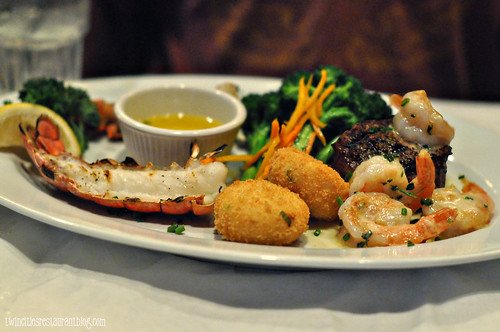 Steak & Scampi with a Lobster Tail at McComrick & Schmicks ~ Minneapolis, MN