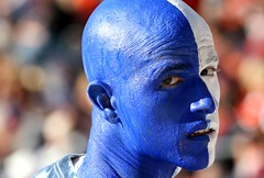 Blue (avpjack) Tags: blue virginia fan football bravo connecticut huskies gameday win universityofvirginia gridiron 12thman 70200f4l paintedface canon30d scottstadium abigfave 5for2 superbmasterpiece theperfectphotographer uvavsuconn bowleligible