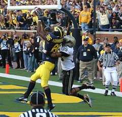 Touchdown! (Aaron Webb) Tags: football michigan uofm michiganfootball touchdown universityofmichigan touchdowncatch