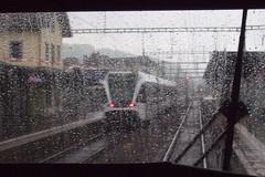 Rainy Day (Kecko) Tags: railroad public rain station train schweiz switzerland europe suisse swiss stmargrethen transport kecko ostschweiz thurbo eisenbahn rail railway zug bahnhof sbb rainy commuter svizzera rheintal bahn verkehr regen 2007 schiene swissphoto rheintalbild