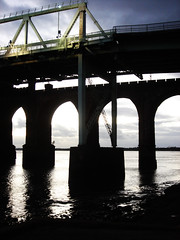 two bridges (kaytee...) Tags: bridge railway widnes rivermersey runcornbridge silverjubileebridge