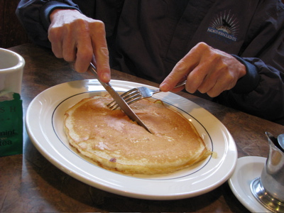 Whidbey Island Real Estate on Jim Eating Pancakes At The Freeland Cafe  Sue Frause Photos