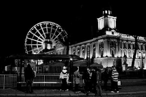 Big Wheel City Hall & queue