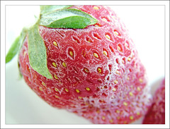 Frozen Strawberry - Explored! (anshu_si) Tags: red food macro ice closeup fruit frozen strawberry s7000 fujifilm foodphotography