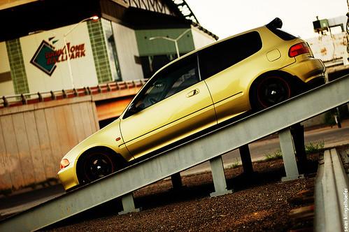 Honda Civic Hatchback Eg6. Gold Honda Civic EG hatch