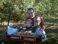 The apple picking boys (Scott Monty) Tags: autumn scott drew will willdrew