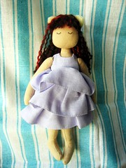 cat girl (ccyytt) Tags: girl cat stuffed doll purple handmade craft sew cotton gift cloth