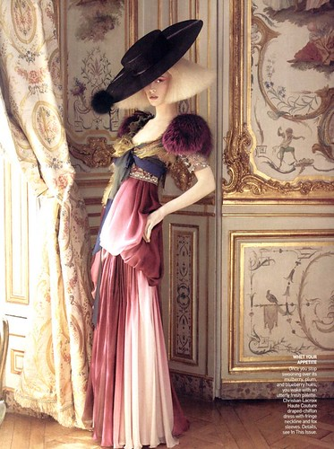 """Alighting"" - Vogue USA October 2007 - David Sims - Raquel Zimmerman by destevenmeisel."