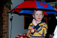 Jake loves the umbrella we gave him