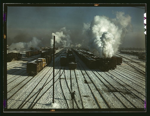 C & NW RR, a general view of a classification yard at Proviso Yard, Chicago, Ill. (LOC)